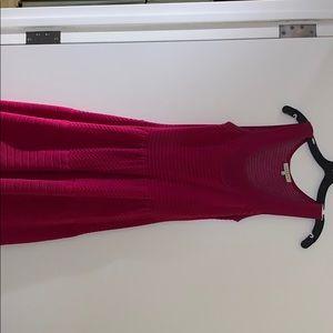 Pink Sandro knit dress.
